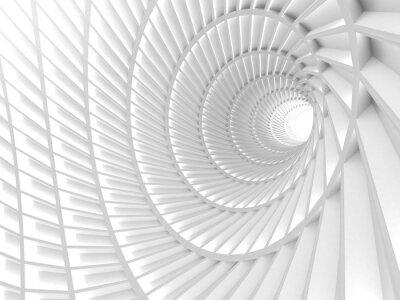 Cuadro Fondo blanco abstracto del agujero del túnel