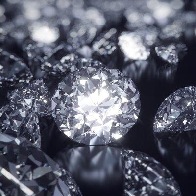 Cuadro Fondo brillante diamantes