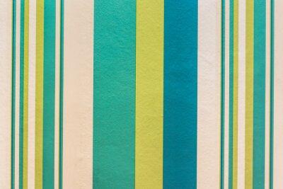 Cuadro Fondo colorido abstracto con patrón de rayas de la vendimia en la pared