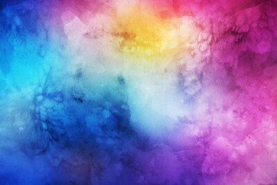 Cuadro Fondo colorido abstracto de la acuarela para el diseño gráfico