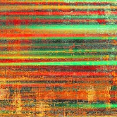 Cuadro Fondo colorido del Grunge. Con diferentes patrones de color: amarillo (beige); naranja roja); verde; negro