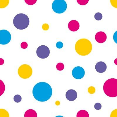 Cuadro Fondo colorido Polka Dot Seamless