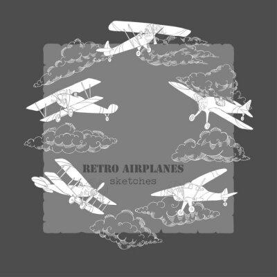 Cuadro Fondo con aviones