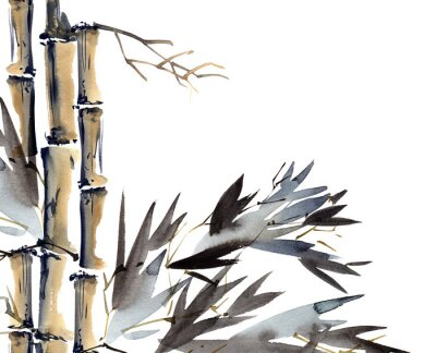 Cuadro Fondo con bambú