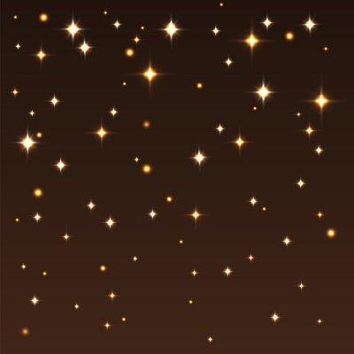 Cuadro Fondo con brillantes estrellas en el cielo oscuro