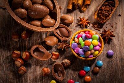 Cuadro Fondo de chocolate de Pascua