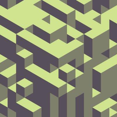 Cuadro Fondo de colores 3d geométrico abstracto.