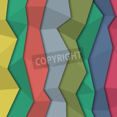 Cuadro Fondo de papel de color 3d - estilo de origami.
