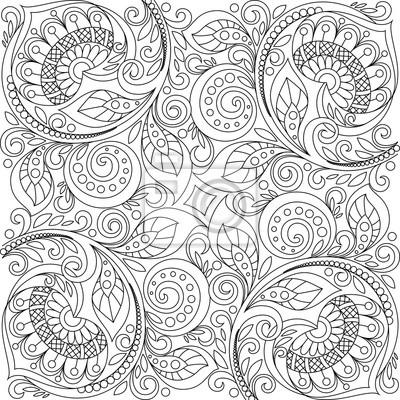 Fondo floral con corazones. patrón decorativo floral. adulto ...