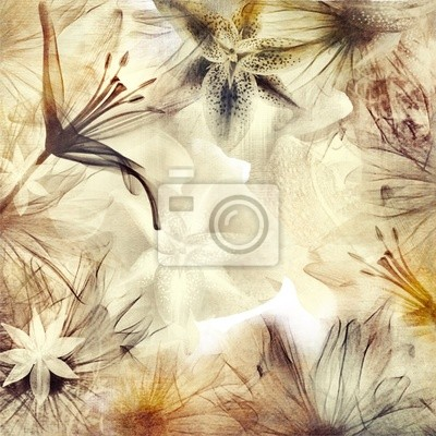 fondo floral en tonos pastel