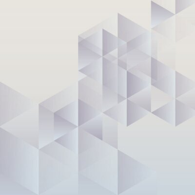 Cuadro Fondo geométrico abstracto, diseño triangular moderno
