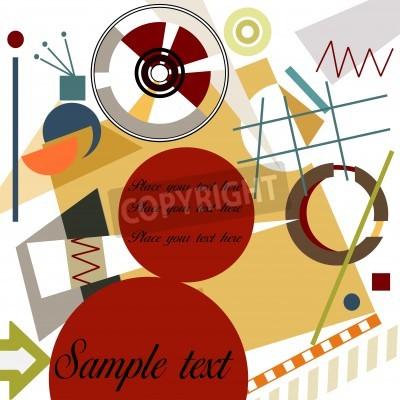 Cuadro Fondo geométrico abstracto; Maestro estilo Kandinsky