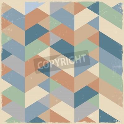 Cuadro Fondo geométrico retro en colores pastel