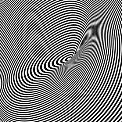 Cuadro Fondo negro y blanco Opt Arte