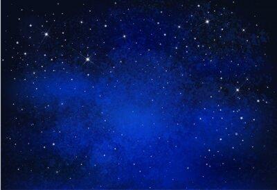 Cuadro Fondo nocturno estrellado del cielo del vector.