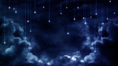 Cuadro Fondo pacífico, cielo nocturno azul. Elementos provistos por la NASA