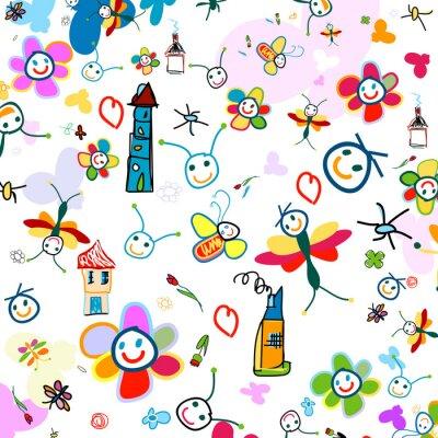 Fondo para los niños pinturas para la pared • cuadros infantil ...