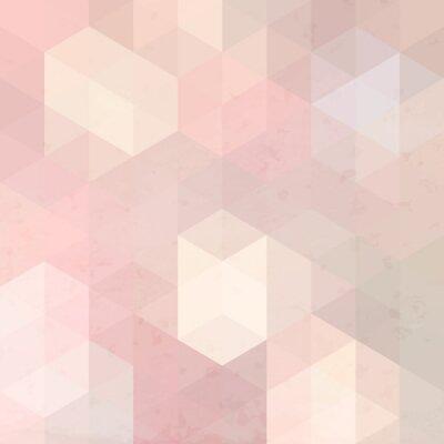 Cuadro Fondo retro geométrico con la textura del grunge