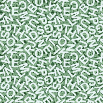 Cuadro Fondo transparente de las letras