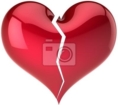 Forma clásica del corazón quebrado. Fall out of Love abstracto
