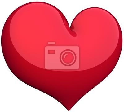 Forma de corazón rojo clásico color. Hermoso símbolo de amor
