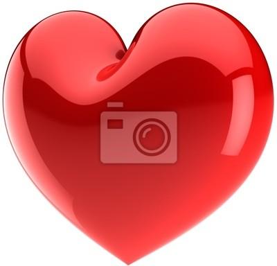 Forma de corazón rojo. Te Amo símbolo clásico