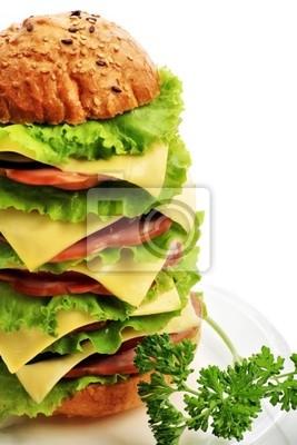 Cuadro Forma natural los alimentos, productos de pastelería. Comida rápida. Filmada en un estudio.