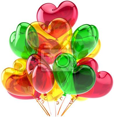 Forma parte de globos de cumpleaños decoración aniversario corazón