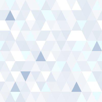 Cuadro Forma triangular patrón transparente azul brillante. Fondo brillante geométrico.