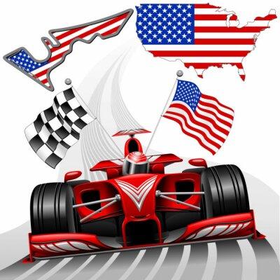 Cuadro Formula 1 Race Car GP Austin EE.UU.