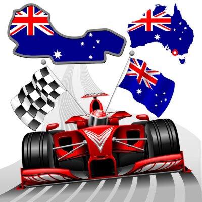 Cuadro Formula 1 Race Red GP de coches Australia