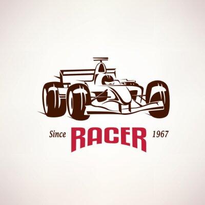 Cuadro Fórmula emblema del coche de carreras, símbolo del bolide de la raza