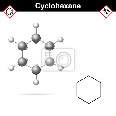 Fórmula Química Del Ciclohexano Y Estructura Molecular