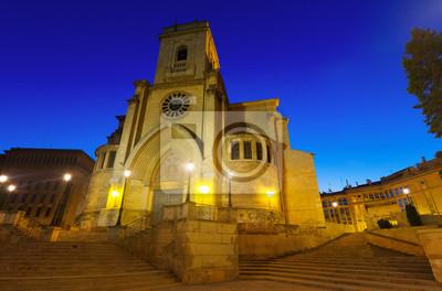 Foto de gran angular de la Catedral de San Juan de Albacete
