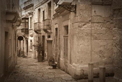 Foto retra de la vieja calle estrecha