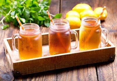 Cuadro Frascos de limón hielo té
