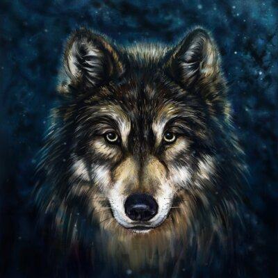 Cuadro frente lobo