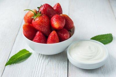 Cuadro fresas con nata