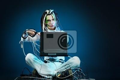 futuristic person