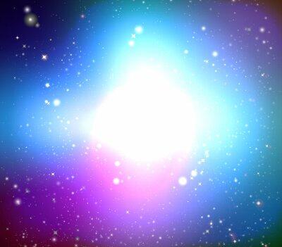 Cuadro Galaxia en color