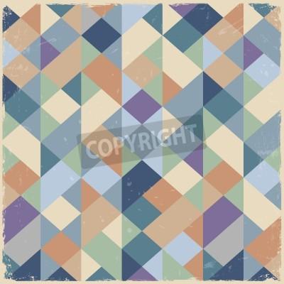 Cuadro Geometric retro background in pastel colors