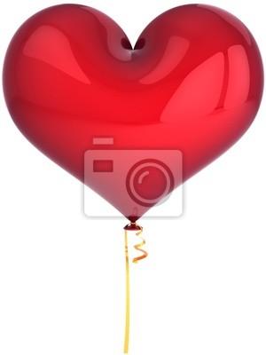 Globo del corazón de color rojo. El amor está en el aire! Decoración del partido