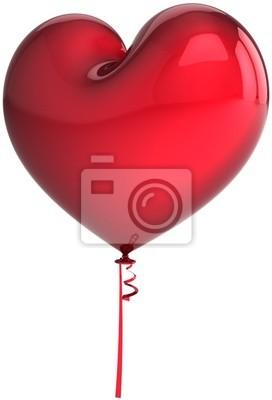 Globo rojo del corazón. El amor está en el aire! Decoración romántica