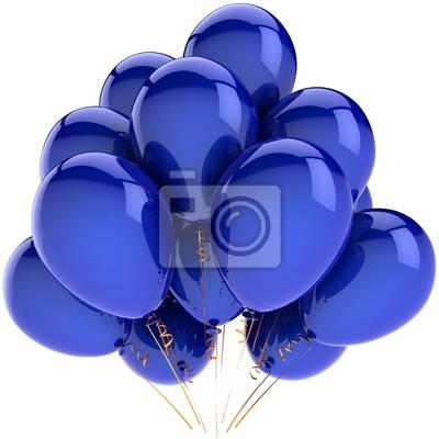 Globos azules decoración del partido. Felicidad alegre emoción