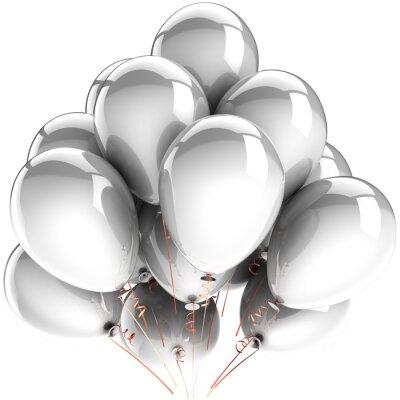 Globos blancos. Modern cumpleaños celebrar la decoración del partido