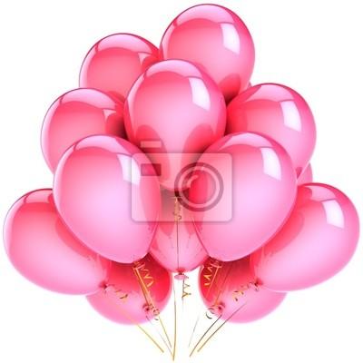 Globos de color rosa decoración del partido. Concepto de vacaciones románticas