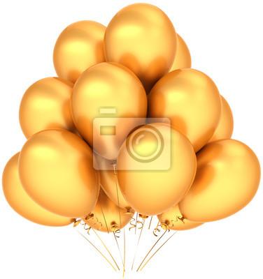 Globos de cumpleaños decoración de oro de lujo para la fiesta gozosa