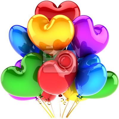 Globos de vacaciones en forma de corazón decoración fiesta de cumpleaños