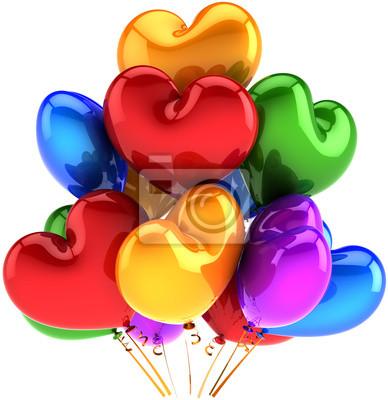 Globos del amor en forma de corazón cumpleaños parte decoración multicolor
