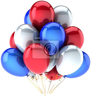 Globos del partido Día de la Independencia de color. Decoración nacional EE.UU.